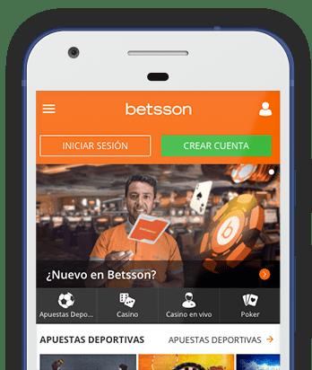 Captura pantalla móvil Betsson en Colombia