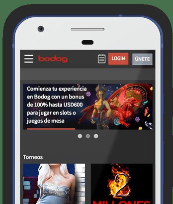 Captura pantalla móvil Bodog en Colombia