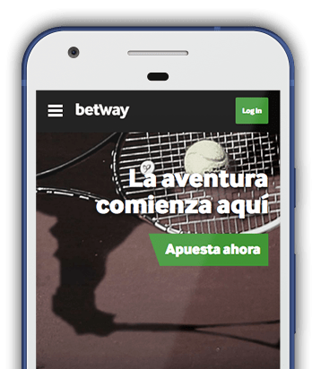 Captura pantalla móvil Betway en Colombia