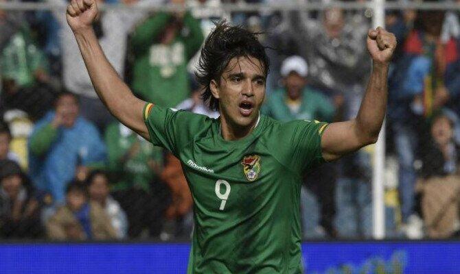 Marcelo Martins celebra gol con Bolivia