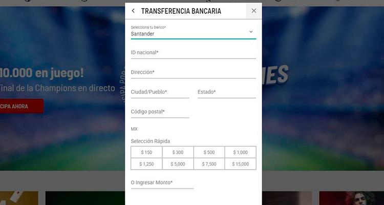 Depósito de dinero con Banco Santander