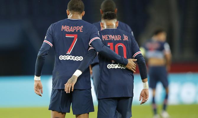 Neymar y Mbappé PSG vs Manchester United