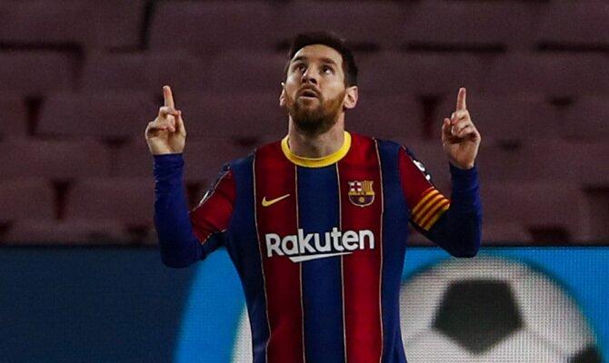 Leo Messi celebrando un gol es uno de los pronósticos a tener en cuenta para el Sevilla vs Barcelona