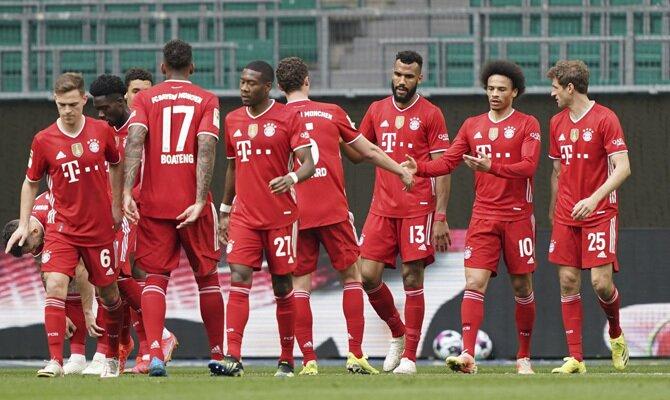 Los bávaros celebran un gol en la imagen. Revisa las cuotas del Bayern Múnich vs Bayer Leverkusen