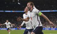 Harry Kane y Phil Foden celebran el gol anotado en semifinales. Picks Italia vs Inglaterra Euro 2020